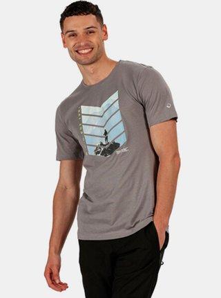 Pánské tričko Regatta RMT214 Breezed  Šedá