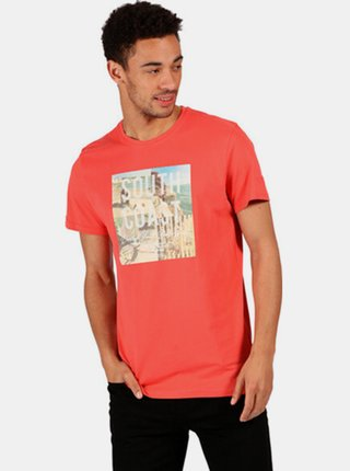 Pánské tričko REGATTA RMT206 Cline IV  Červená