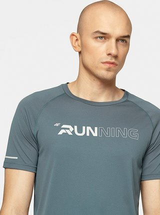Pánské běžecké tričko 4F TSMF102  Šedá