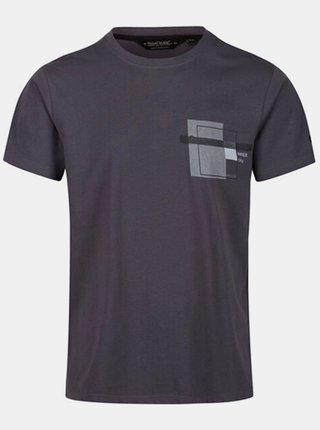 Pánské tričko Regatta RMT206 Cline IV  Šedá