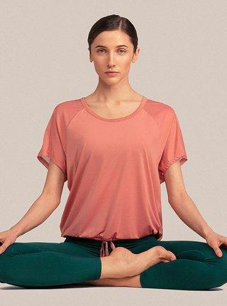 Dámské tričko na jógu 4F TSDF401 Růžová