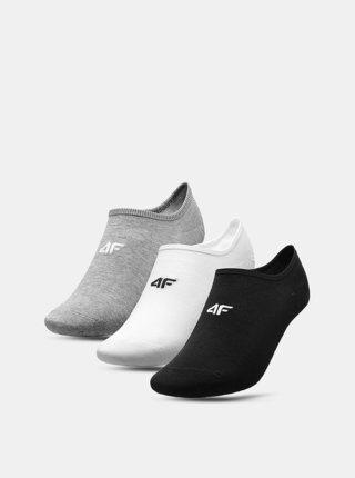 Pánské nízké ponožky 4F SOM300 (3 páry) Šedá