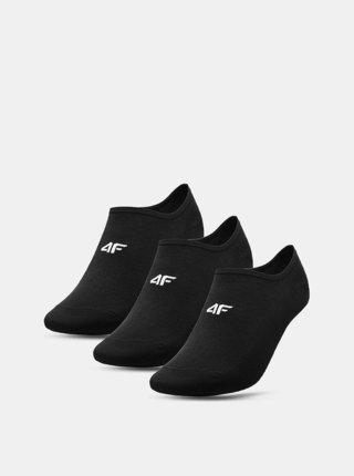 Pánské nízké ponožky 4FSOM300 (3 páry) Černá