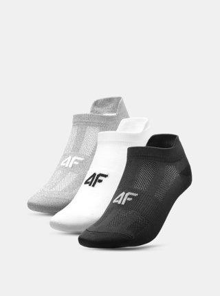 Dámské ponožky 4F SOD213 (3 Páry) Šedá