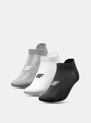 Pánské sportovní ponožky 4F SOM213 (3 páry) Šedá