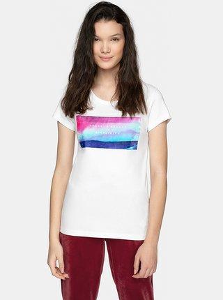Dámské tričko 4F TSD202  Bílá