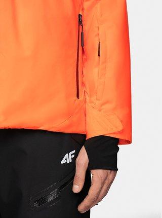 Pánská lyžařská bunda 4F KUMN010neon Oranžová