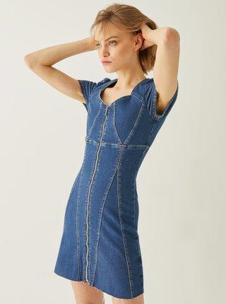 Modré džínové šaty se zipem TALLY WEiJL