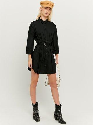 Černé košilové šaty s páskem TALLY WEiJL