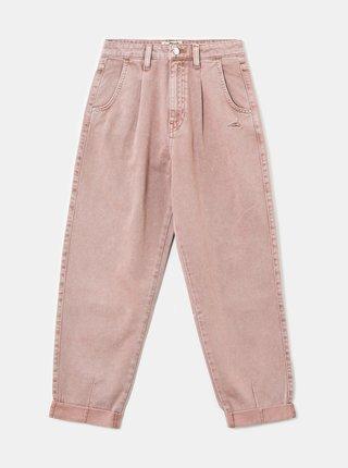 Světle růžové zkrácené mom džíny TALLY WEiJL