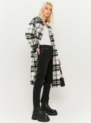 Černé straight fit džíny s potrhaným efektem TALLY WEiJL