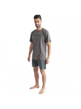 Pánské pyžamo Gino tmavě šedé