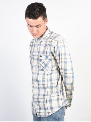 RVCA TREETS MIRAGE pánské košile s dlouhým rukávem - modrá