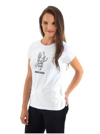Horsefeathers WAR PAINT white dámské triko s krátkým rukávem - bílá