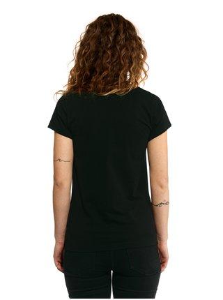 Horsefeathers WAR PAINT black dámské triko s krátkým rukávem - černá