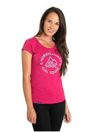 Horsefeathers TASHA rose red dámské triko s krátkým rukávem - růžová