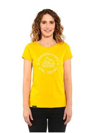 Horsefeathers TASHA CITRUS dámské triko s krátkým rukávem - žlutá
