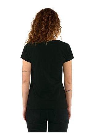 Horsefeathers TASHA black dámské triko s krátkým rukávem - černá