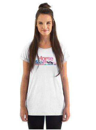 Horsefeathers CHELSEA white dámské triko s krátkým rukávem - bílá