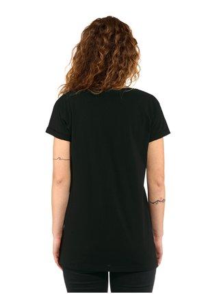 Horsefeathers CHELSEA black dámské triko s krátkým rukávem - černá