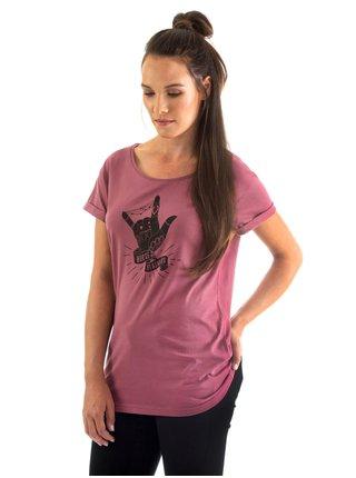 Horsefeathers COLEEN mauwe dámské triko s krátkým rukávem