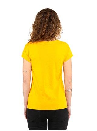 Horsefeathers ARROW LOVE CITRUS dámské triko s krátkým rukávem - žlutá