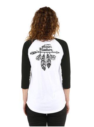 Horsefeathers BIRDIE white dámské triko s dlouhým rukávem