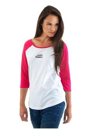 Horsefeathers BIRDIE rose red dámské triko s dlouhým rukávem - bílá