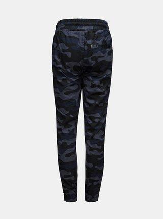 Tmavě modré klučičí maskáčové kalhoty SAM 73