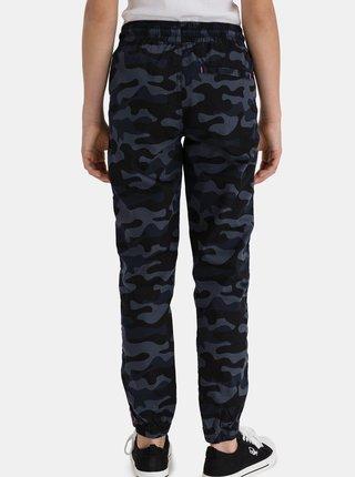 Tmavě modré holčičí maskáčové kalhoty SAM 73