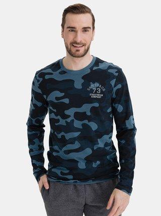 Tmavě modré pánské maskáčkové tričko SAM 73