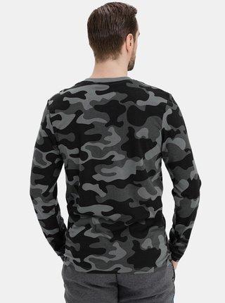 Tmavě šedé pánské maskáčkové tričko SAM 73
