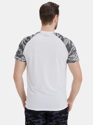 Šedo-bílé pánské tričko SAM 73