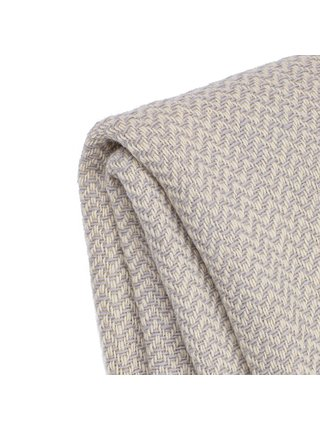 Vlněná deka Marina merino - světle šedá