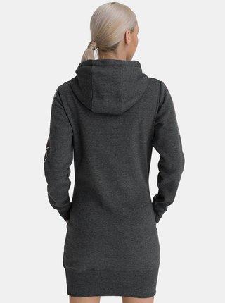 Šedé dámské mikinové šaty s kapucí SAM 73