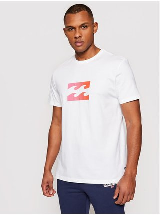 Billabong TEAM WAVE white pánské triko s krátkým rukávem - bílá