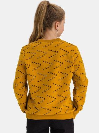 Žltá dievčenská vzorovaná mikina SAM 73