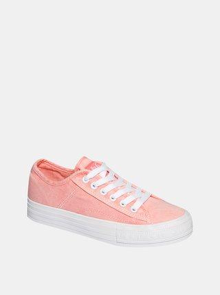 Růžové dámské tenisky Lee Cooper