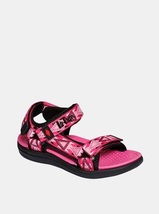 Růžové holčičí vzorované sandály Lee Cooper
