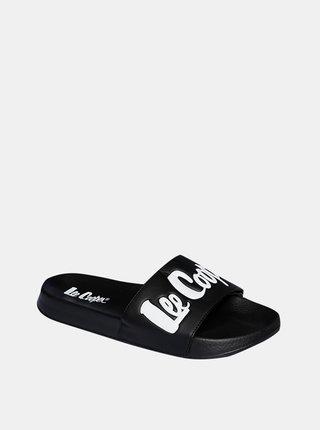 Černé pánské pantofle Lee Cooper