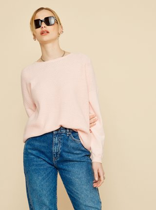 Světle růžový dámský oversize svetr ZOOT Morgan