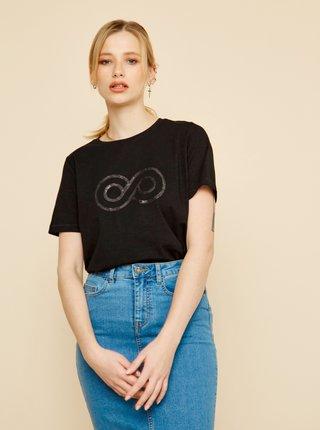 Černé dámské tričko s flitry ZOOT Lucy