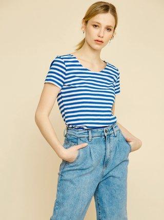 Bílo-modré dámské pruhované tričko ZOOT Baseline Amber
