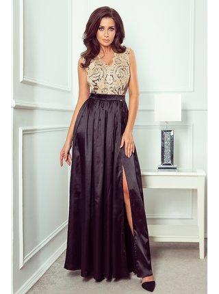 Dámské šaty 256-4 - Numoco černo-zlatá