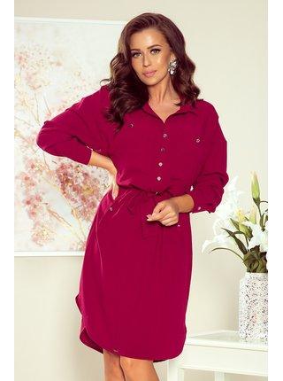 Dámské šaty 258-1 Brooke - Numoco bordo