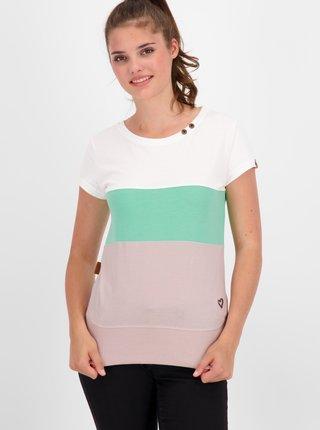 Zeleno-růžové dámské dlouhé tričko Alife and Kickin