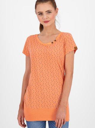 Oranžové dámské vzorované dlouhé tričko Alife and Kickin