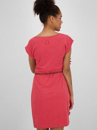 Červené dámske šaty s opaskom Alife and Kickin
