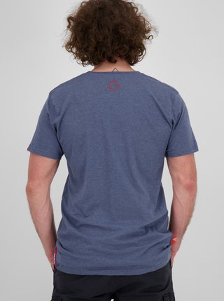 Modré pánské tričko s potiskem Alife and Kickin