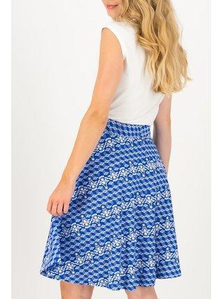 Blutsgeschwister modrá sukně Fullmoon Circle Skirt Dutch Delft
